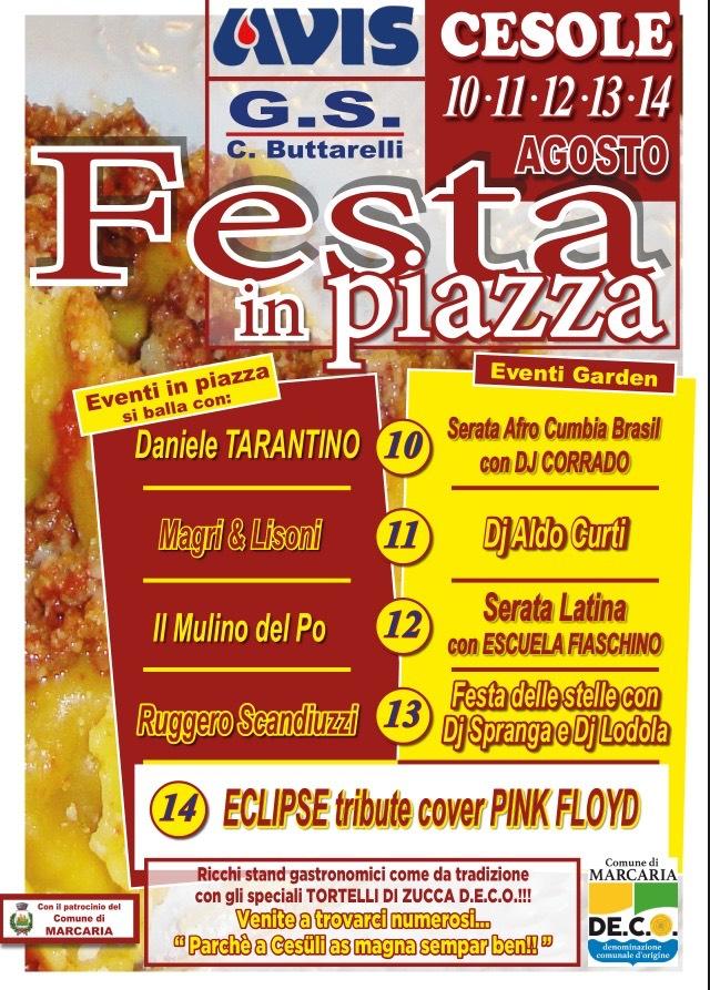 Daniele Tarantino Calendario Serate.L Avis Di Cesole Vi Invita Alla Festa In Piazza Radio Pico